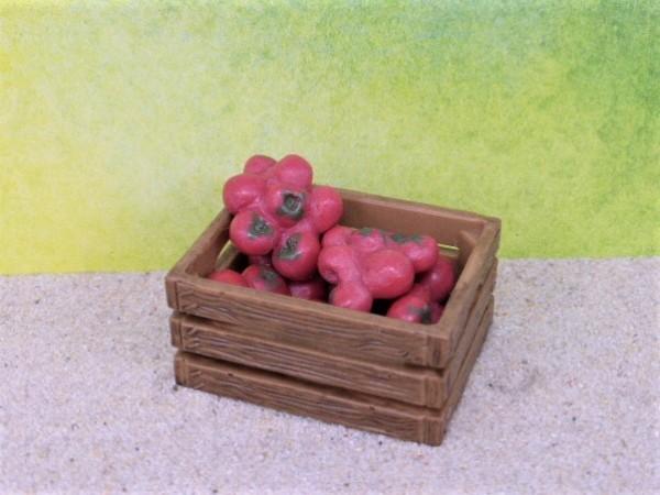 Steige ... mit roten Tomaten